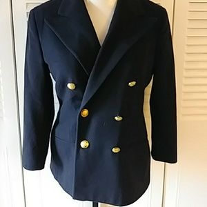 Ralph Lauren Blue Blazer Jacket Double-breasted
